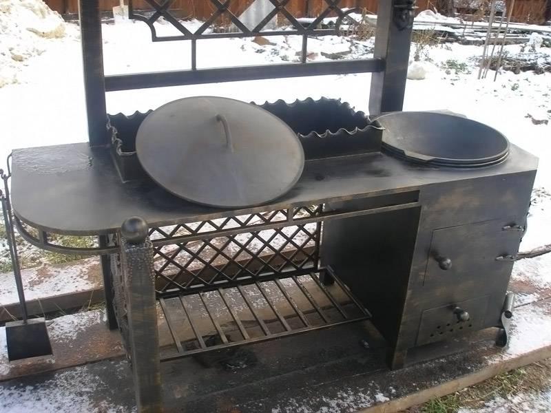 Мангалы из металла своими руками: размеры, фото