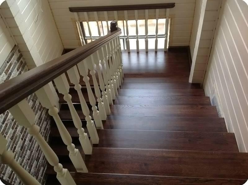 Лестница своими руками из дерева с поворотом на 180 фото фото 306