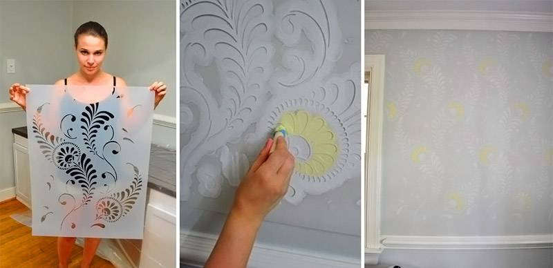 Рисунки своими руками для стен