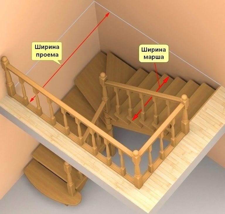 Расчёт лестницы с поворотом на второй этаж своими руками 53