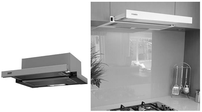 Встраиваемые модели прекрасно скрываются в системах навесных шкафов