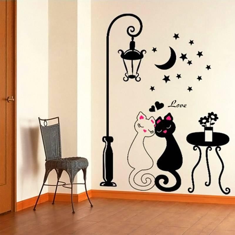 декоративные рисунки на стенах своими руками чем привлекательнее хочется