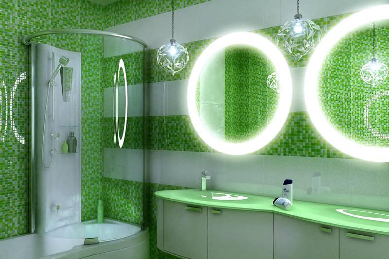 Облицовка с подсветкой позволяет создать сказочный интерьер