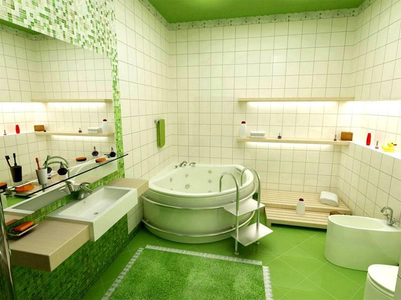 Зеленый цвет позволяет создать позитивное настроение