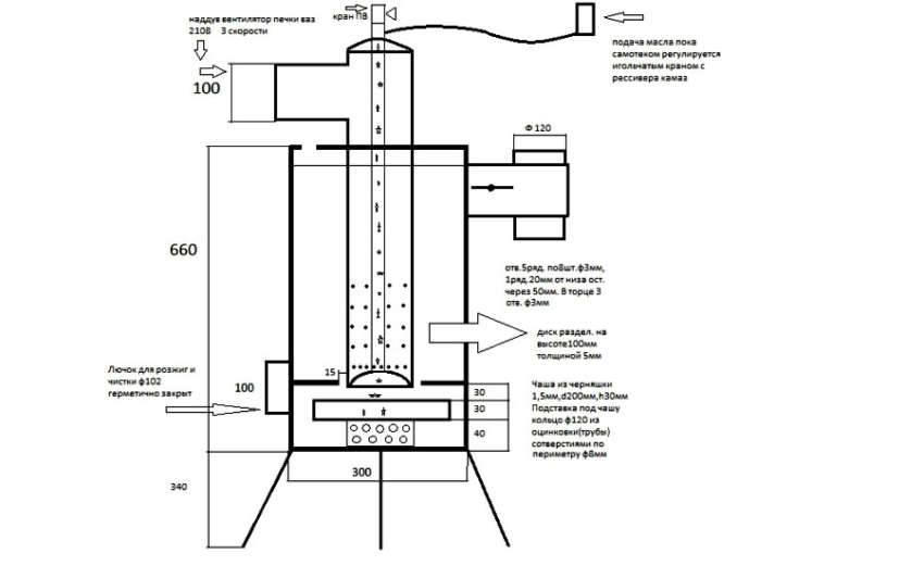 На схеме показана схема работы подобного устройства