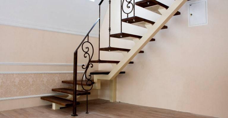 Лестница на второй этаж своими руками из металла с поворотом 72