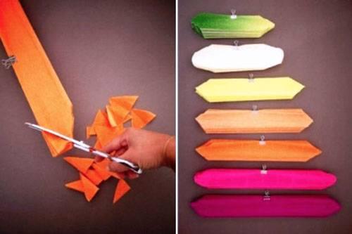 3-30 Цветы из гофрированной бумаги своими руками