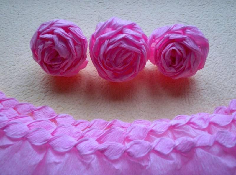 4-28 Цветы из гофрированной бумаги своими руками