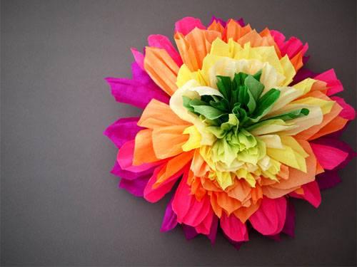 4-29 Цветы из гофрированной бумаги своими руками