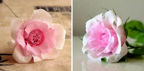 4-32 Цветы из гофрированной бумаги своими руками