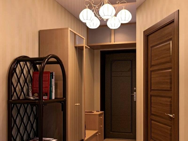 Функциональное оформление в маленьком коридоре выполняется с помощью вместительной и компактной мебели