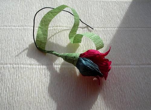 5-27 Цветы из гофрированной бумаги своими руками