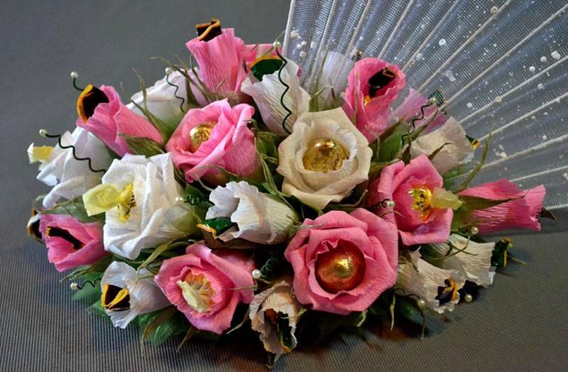 5-31 Цветы из гофрированной бумаги своими руками