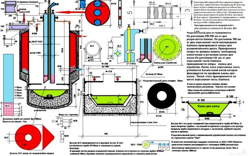 Детальный чертеж оборудования