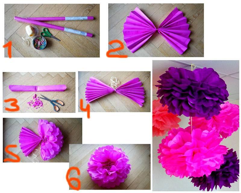 7-23 Цветы из гофрированной бумаги своими руками