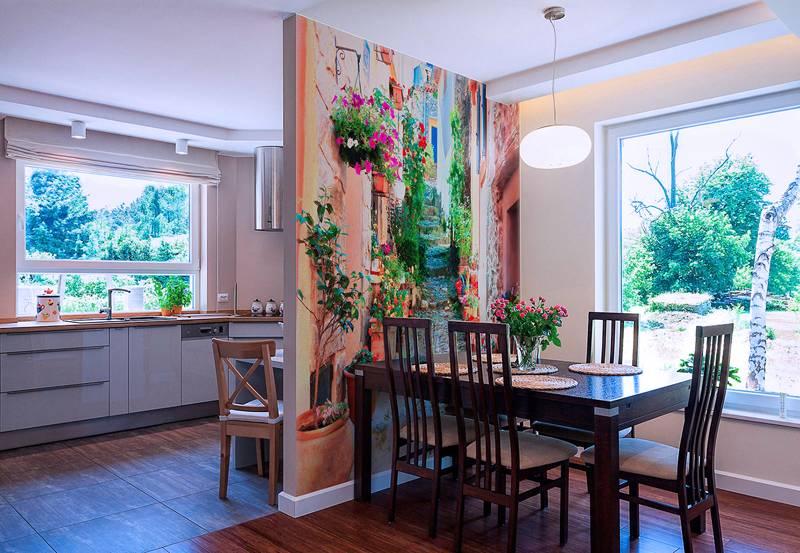 Качественные 3D-обои на стену в квартиру сохранят яркость красок долгое время даже под прямыми солнечными лучами