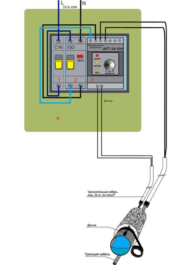 Подключение нагревателя к электросети