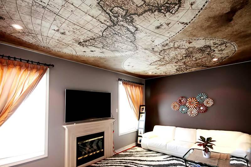 При размещении на потолке (на большом расстоянии от зрителей) повышенная точность деталей не требуется