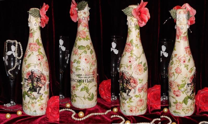 Бутылка с шампанским – универсальный подарок. В этом исполнении ее не выбросят, но оставят на память, как интересный сувенир