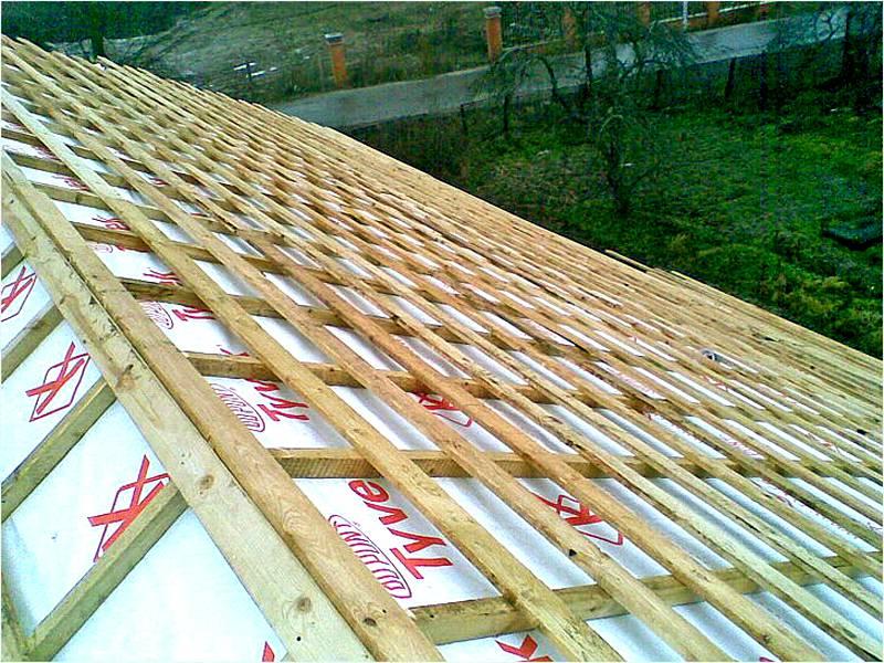 Устройство обрешётки крыши