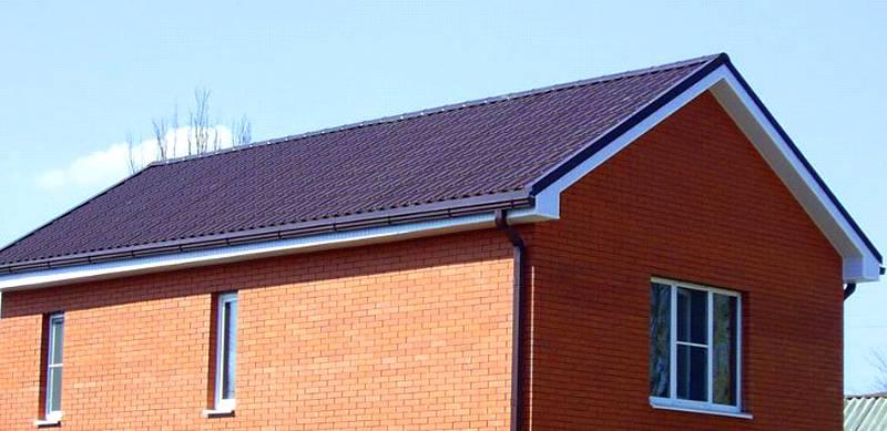 Готовая двускатная крыша