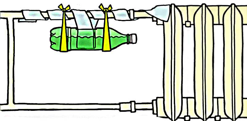 Принцип действия самодельного увлажнителя воздуха из бутылки