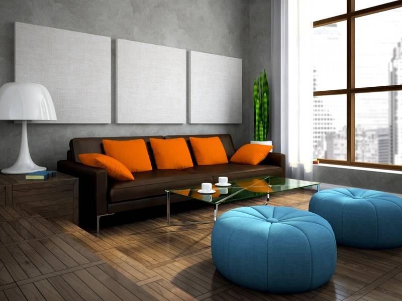Оранжевый – синий