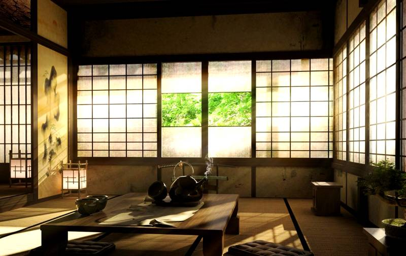 Традиционные японские интерьеры хорошо соответствуют критериям минимализма