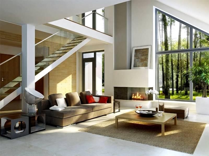 Интерьер современного дома: фото внутри коттеджа в стиле хай тек