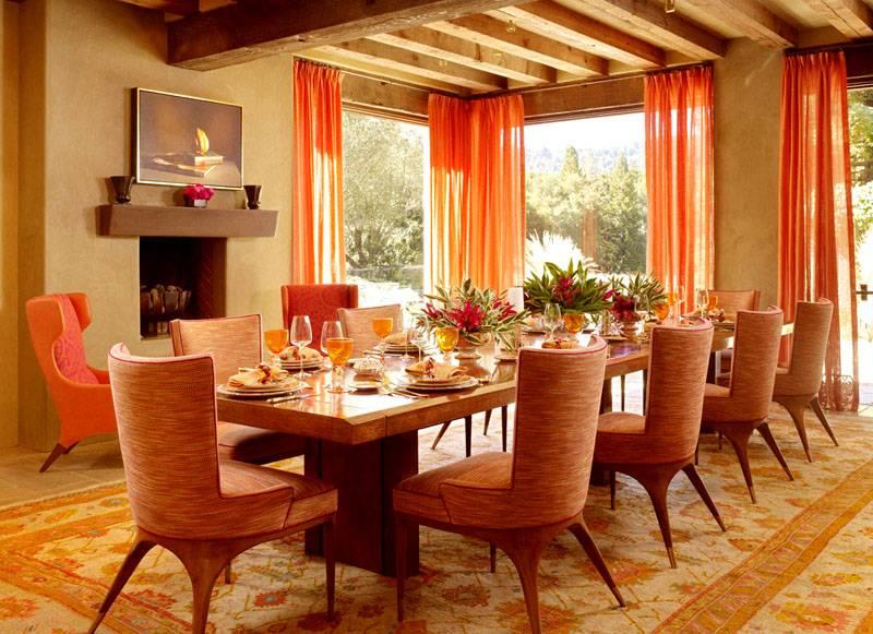 Дружественный оранжевый цвет – подходит для оформления столовых