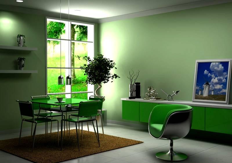 Свежие светлые зеленые оттенки