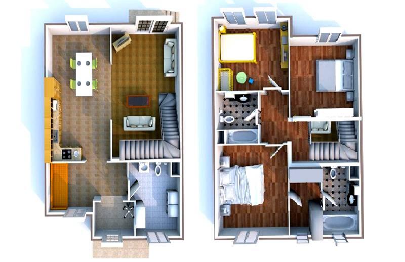 Дизайн домов внутри: на фото видны преимущества компьютерной планировки