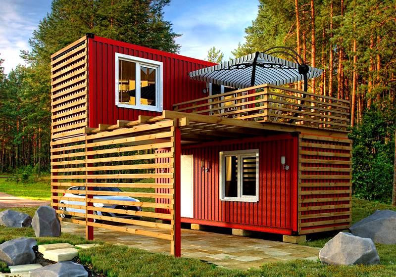 Из вагончиков можно сделать и двухэтажные конструкции