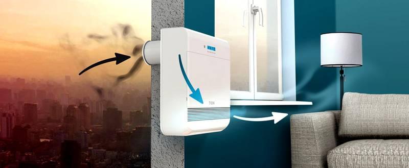 Приточная вентиляция с электронным управлением