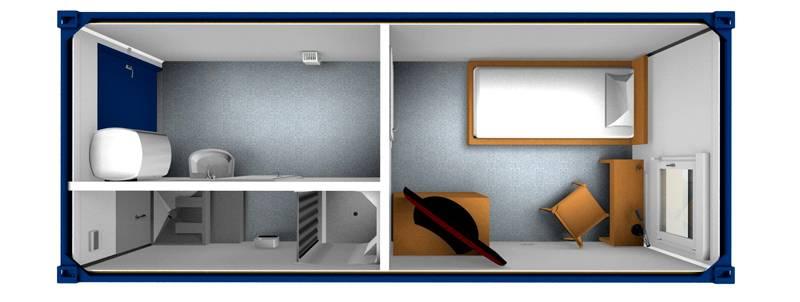 Бытовка из двух смежных комнат – маленькой прихожей и комнаты
