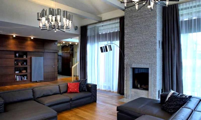 Шторы в гостиную в современном стиле: фото