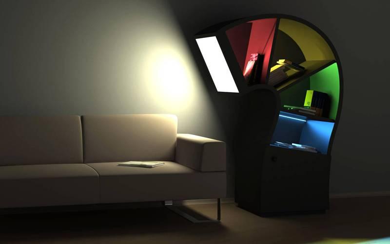 Цветное освещение создаёт необычный эффект