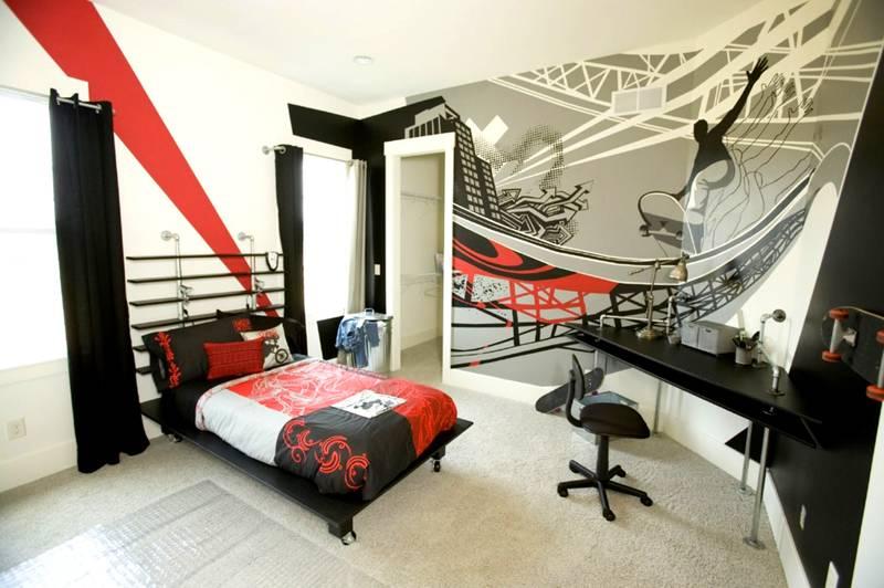 С помощью шаблона можно преобразить комнату подростка