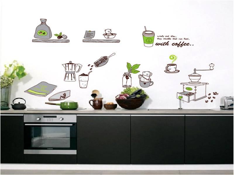 В кухне можно использовать несколько изображений, объединённых одной тематикой