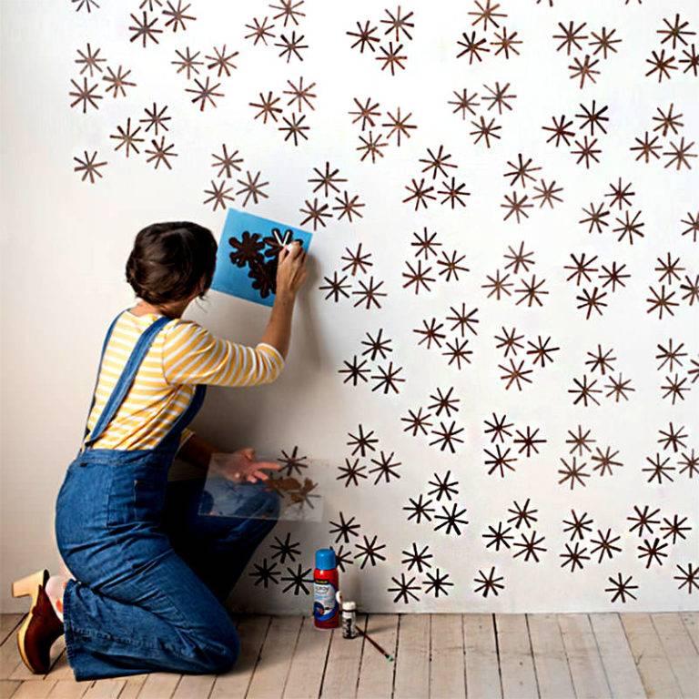 резать его, покраска стен с трафаретом фото любая оценка строится
