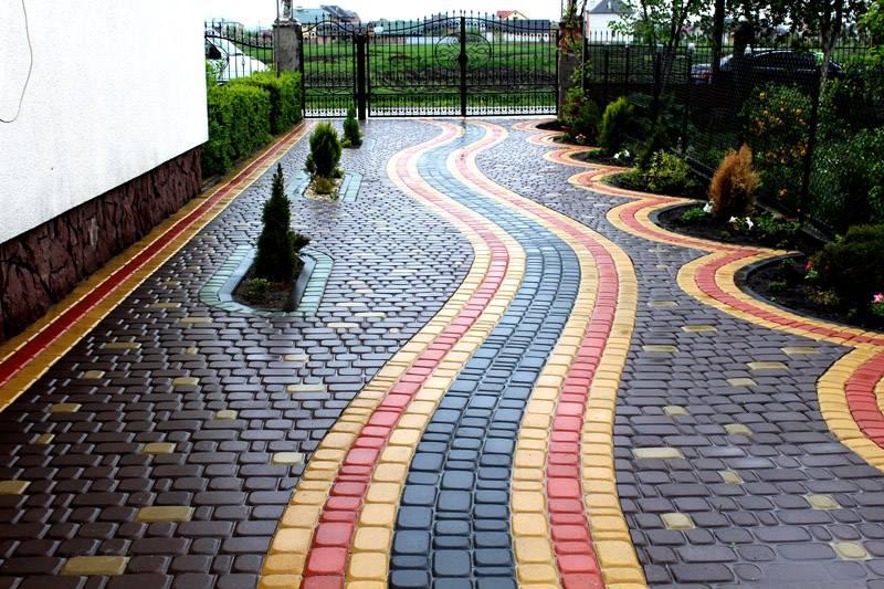 Дизайн укладки тротуарной плитки