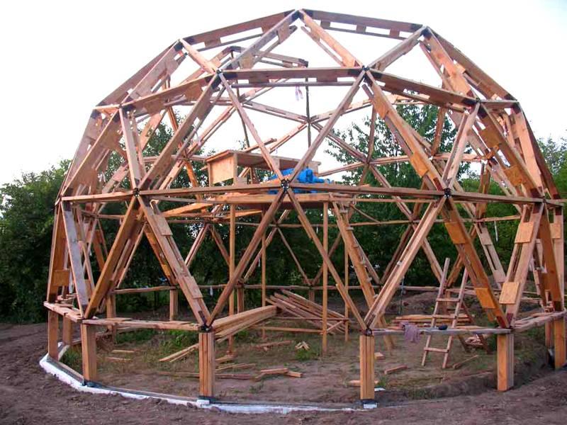 Строительство купольного дома своими руками 45