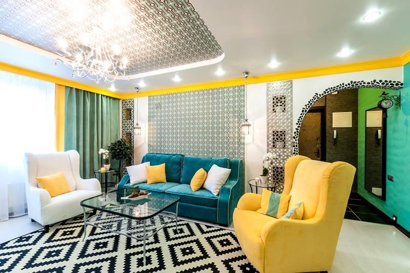 Желтые элементы также лучше применять в комбинации с другими цветами