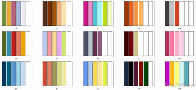 Для проверки сочетаемости разных оттенков используют специальные таблицы
