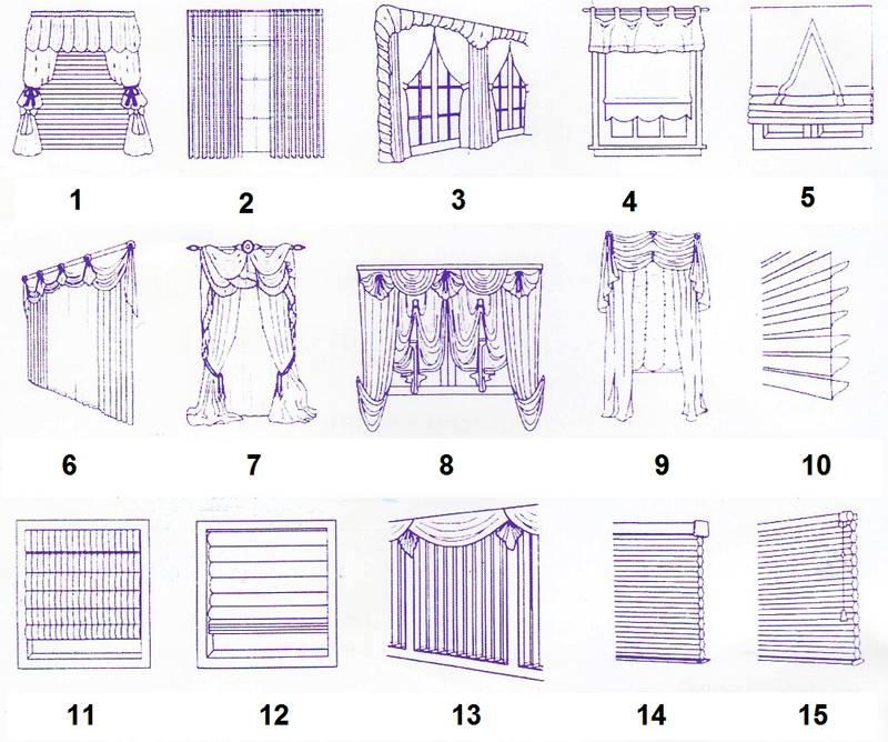 Разные шторы и жалюзи