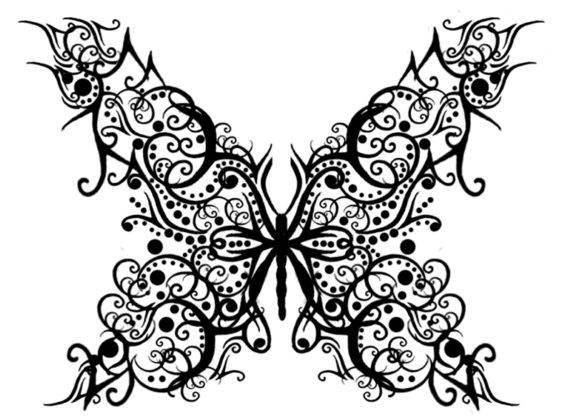 Бабочка на стену для вырезания