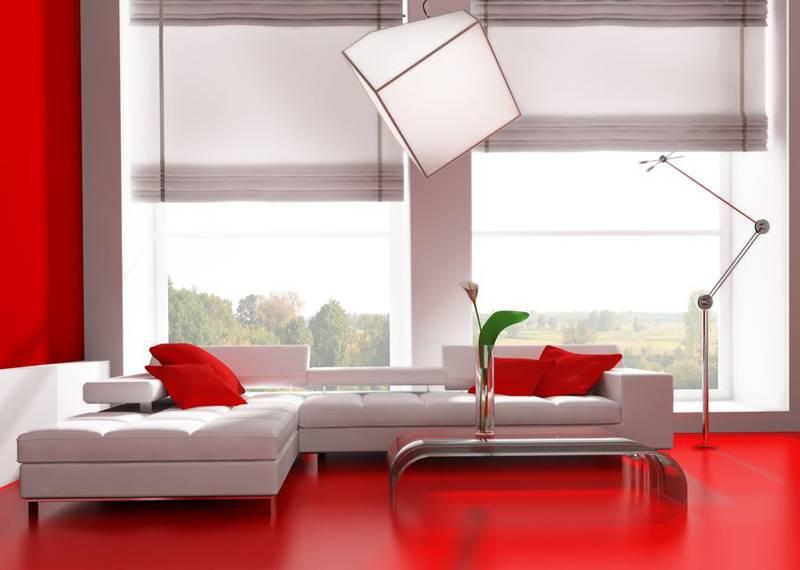 Римские шторы в современной гостиной