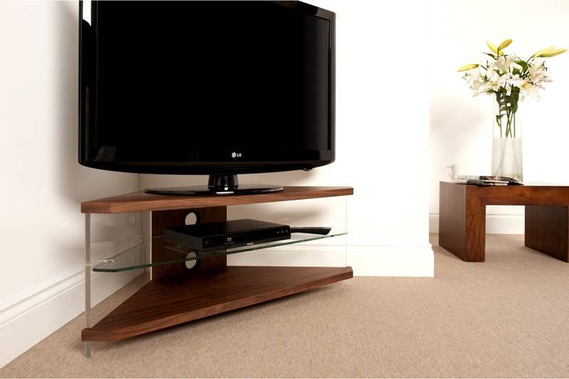 Фото тумбы под телевизор в современном стиле с угловым расположением