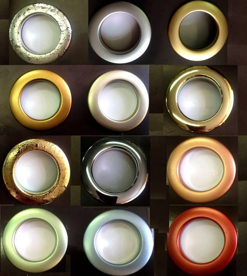 Разнообразие полимерных люверсов пригодится для точного подбора внешнего вида
