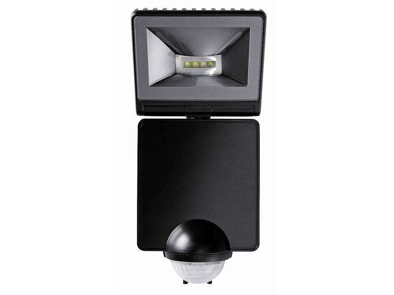 Если надо осветить большую площадь, можно установить датчик, совмещенный с прожектором